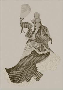 a portrait of Lotte Kestner