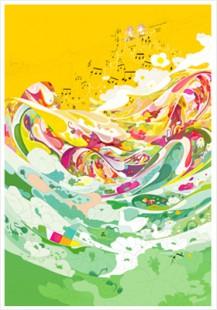 """sound of light"" poster/ $20"