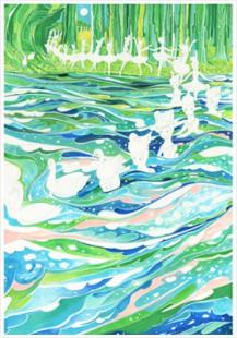 """""""swan lake promenade"""" poster/$20"""