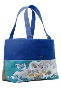"""""""I see crystal dream of horses"""" bag / $150 (SOLD OUT)"""