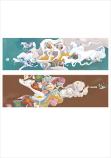 """""""crystal dream of horses"""" 2 sided poster/ $20"""