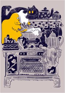 caramel ghost house kitchen scene2