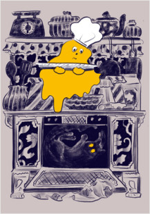 caramel ghost house kitchen scene3