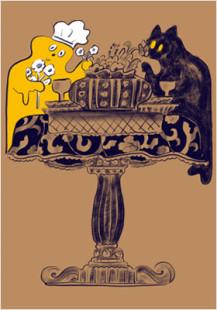 caramel ghost house table scene1
