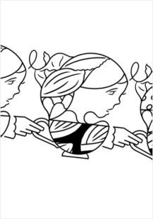 Omotesando monochromatic teacup girls