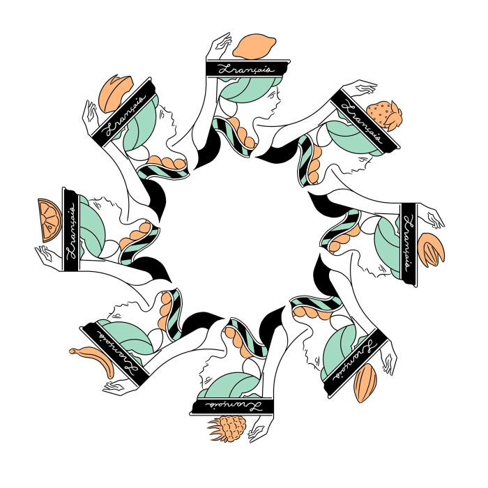 フランセ食器ソーサーカラー版2