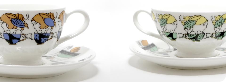 Omotesando tea cup girls in color