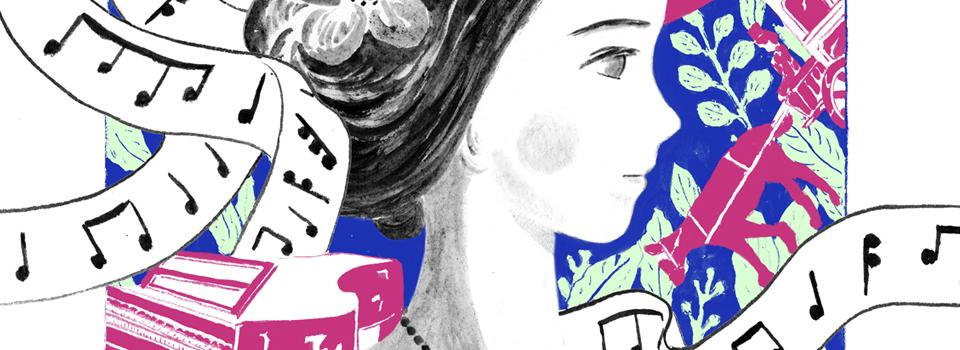 a portrait of Clara Schumann
