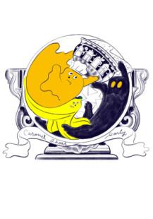 caramel ghost party logo