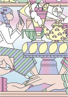 pastel shopping