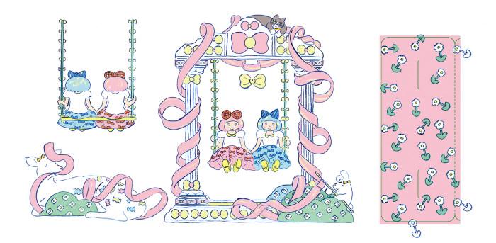 ふたりぼんちゃんブランコdone200