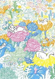 sleeping in the flowers